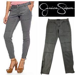 Jessica Simpson Gray/Green Skinny Carpenter Pants